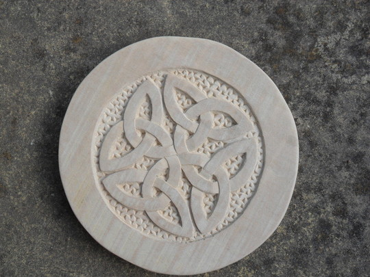 Celtic knot carved
