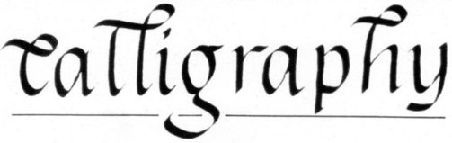Penned heading Calligraphy