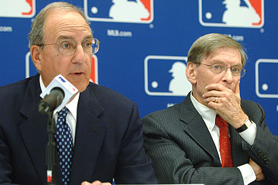 John Mitchell (left) and Baseball Comissioner, Bud Selig