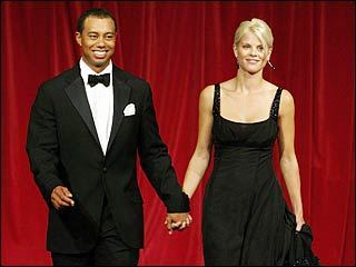 Tiger Woods and wife, Elin