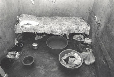 While some criminal deportees live well in Haiti, others are forced to live in conditions such as this one woman deported from the US