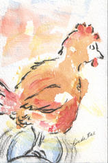 "©2003 Linda Rae ""Rooster on a Roll"""