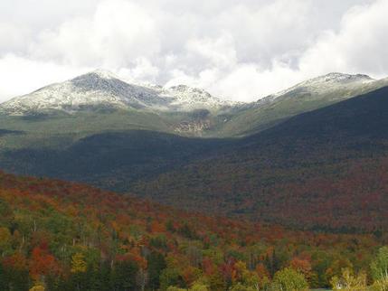 Snow-capped Mount Washington