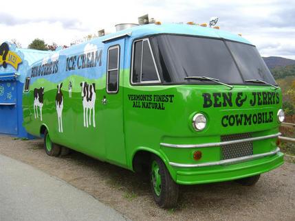 Cowmobile at Ben & Jerry's Factory, Waterbury