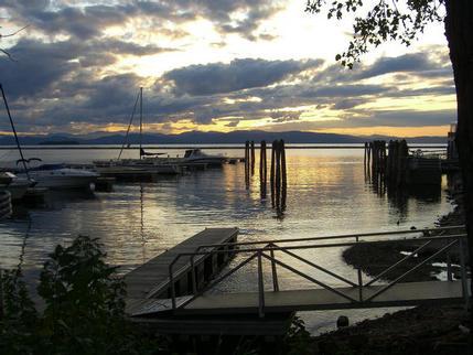 Dusk at Lake Champlain, Burlington, Vermont