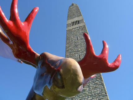 Moose & Monument, Bennington, Vermont
