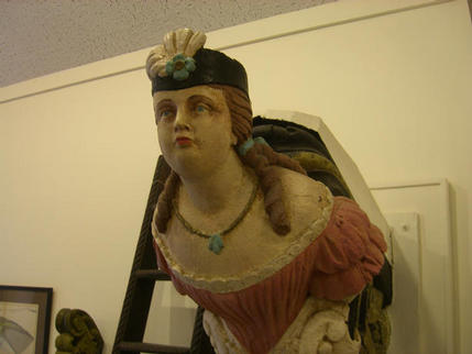 Figurehead from 'Belle of Aberdeen', Provincetown Museum