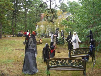 Halloween display, Oyster Lane, Eastham, Massachusetts