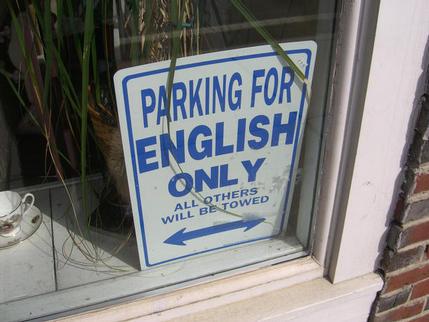 Sign seen in Plymouth, Massachusetts