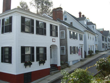 Typical New England houses, Plymouth, Massachusetts