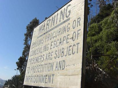 Warning Notice, Alcatraz