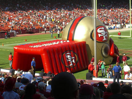 No trouble with inflation at the SF49ers football match