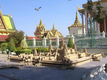 Model of Angkhor Wat at the Royal Palace, Phnom Penh