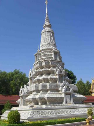 Stupa (contains ashes and relics), Royal Palace, Phnom Penh