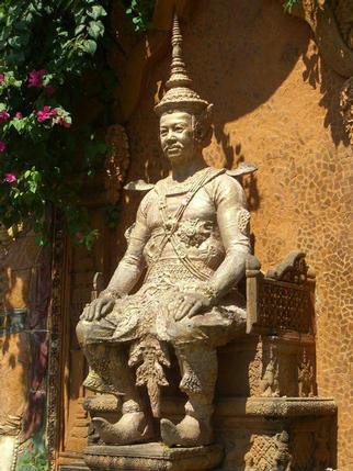 King Sisowath, Wat Phnom Temple, Phnom Penh