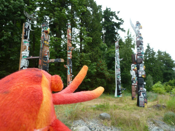 At the totem poles, Stanley Park, Vancouver