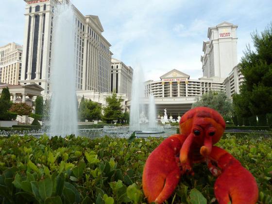 Outside Caesars Palace, Las Vegas