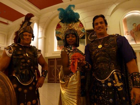 With Caesar and Cleopatra, Caesars Palace, Las Vegas