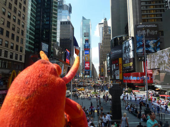 Having a quick look around Times Square, New York