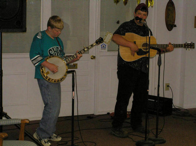 Steven and Ryan at retirement home, New Concord, Ohio