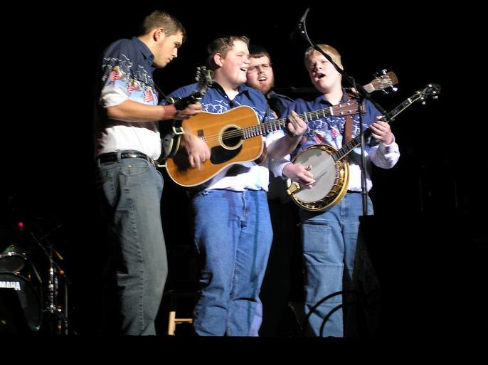 Ken, Ryan, Carl, and Steven at Jamboree USA on live radio