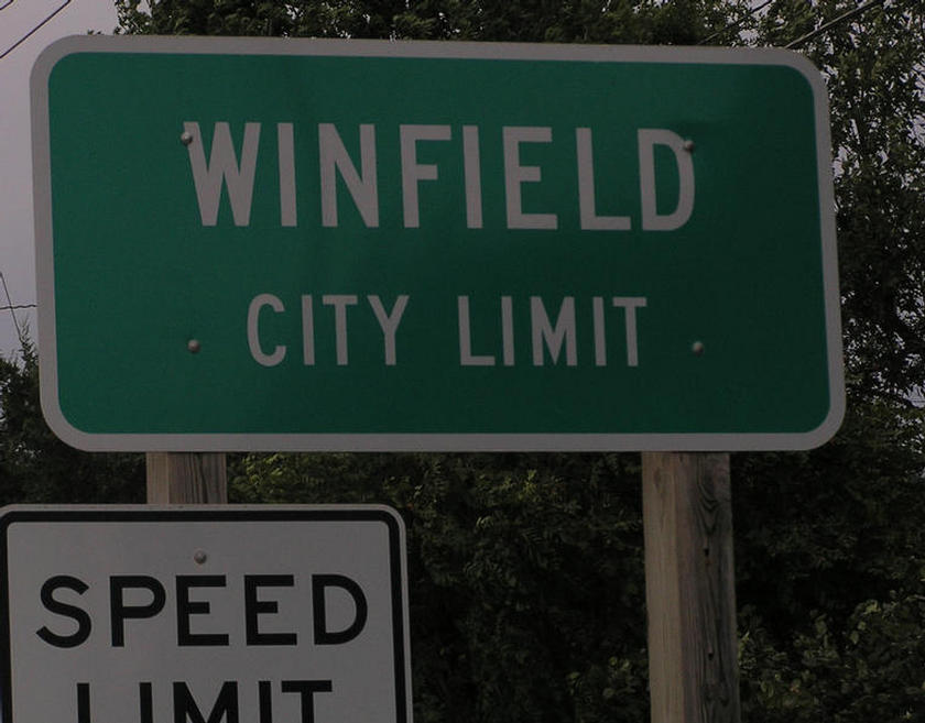 Entering Winfield!