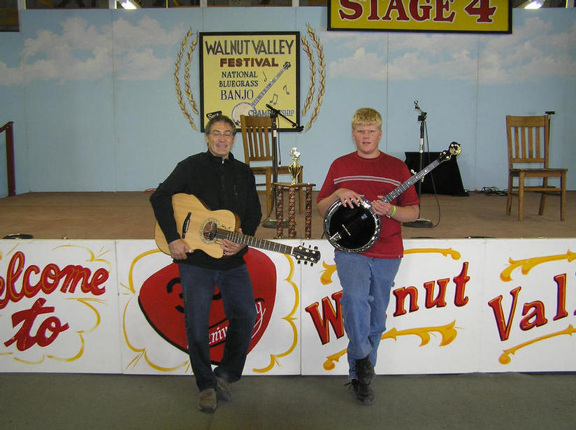 Don Adler with Steven after the contest. Don also won 2nd Place Finger Style Guitar and best new instrumental