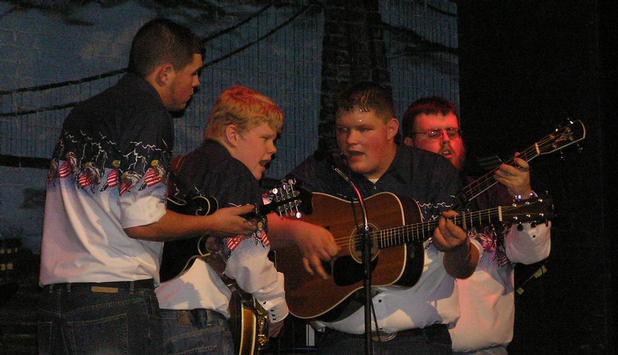 Ken, Steve, Ryan, and Carl doing a song