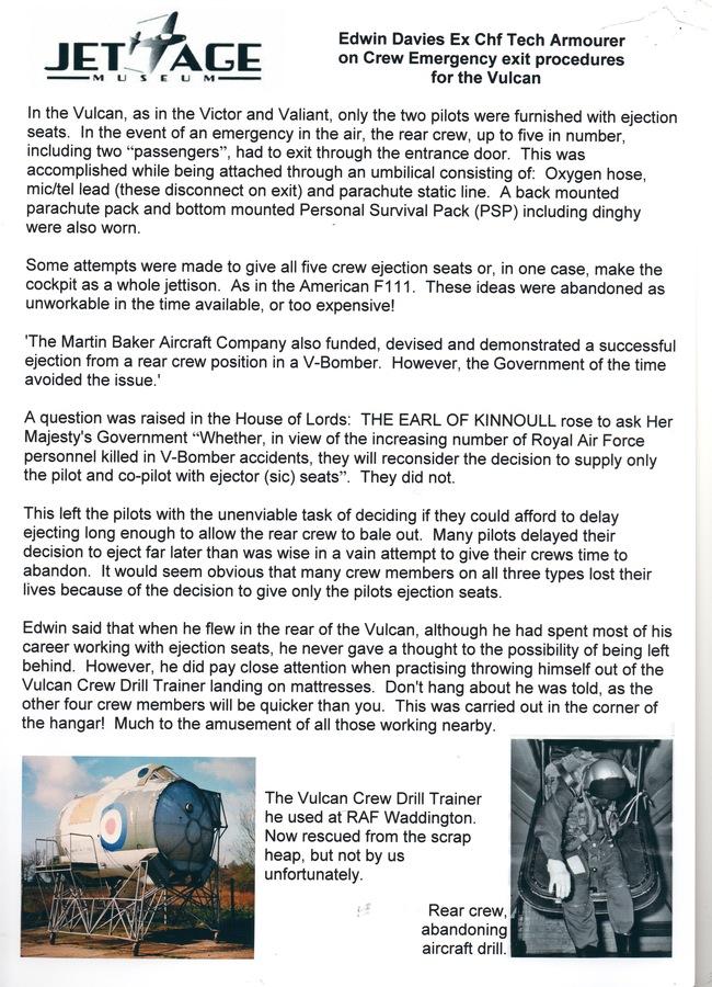Article on Rear Crew Escape.