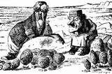 "The Walrus and the Carpenter, from the illustrations to Lewis Carroll's ""Alice Through the Looking-Glass"", 1872"