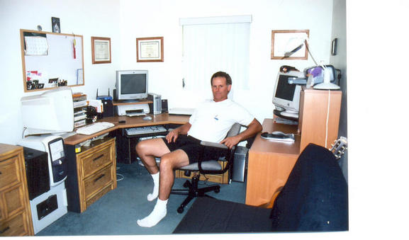 V.P. David Grix at work in the Southern Office.