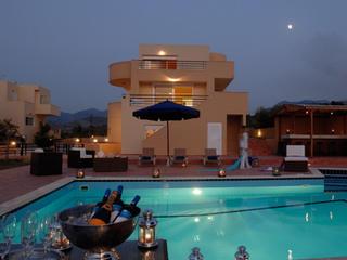 villa nereus at night
