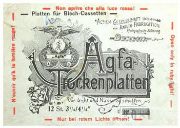 Advert for AGFA photographic plates