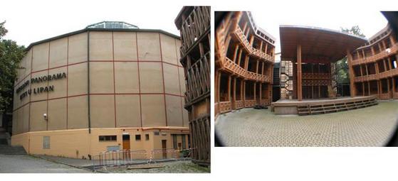 Prague panorama and globe theatre