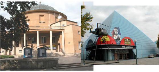 Prague planetarium and music hall