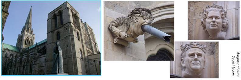 Chichester gargoyle and faces
