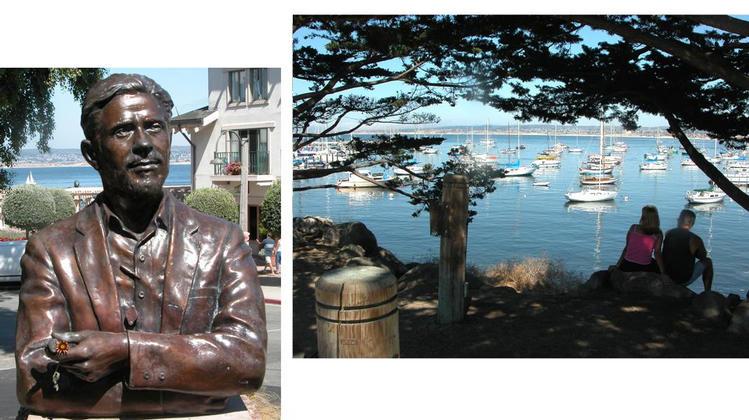 John Steinbeck statue, Monterey Bay