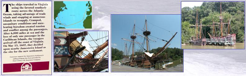 Jamestown ships