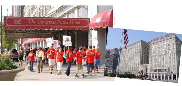 Congress Plaza Hotel industrial action