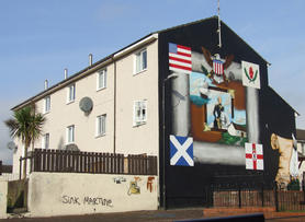 Loyalist political mural, Belfast
