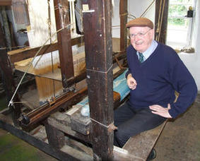 Ulster's last weaver at work