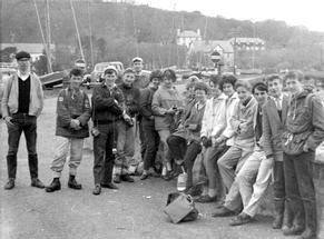 Sixth formers on geology course at Dale Fort - March '61