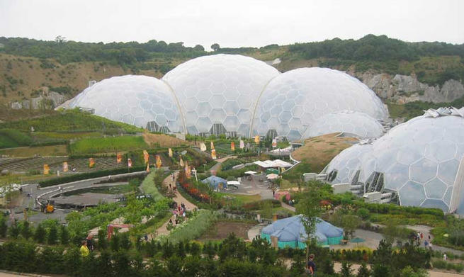 The Eden Project - general site view