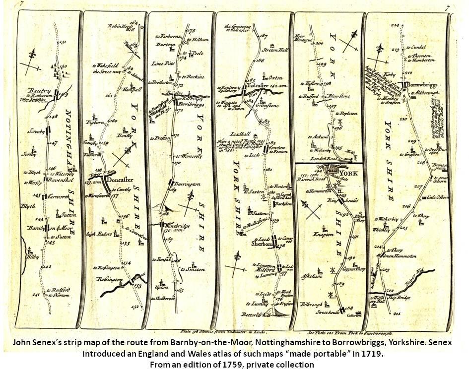 John Senex strip map