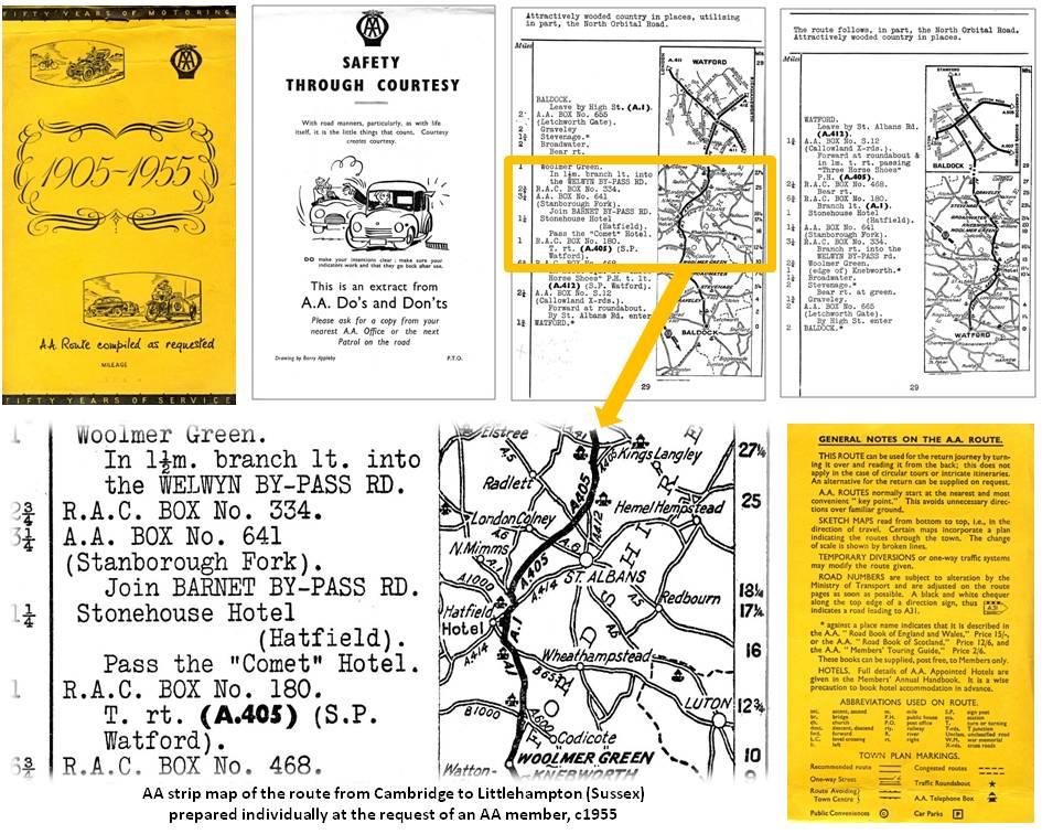 AA strip map c1955