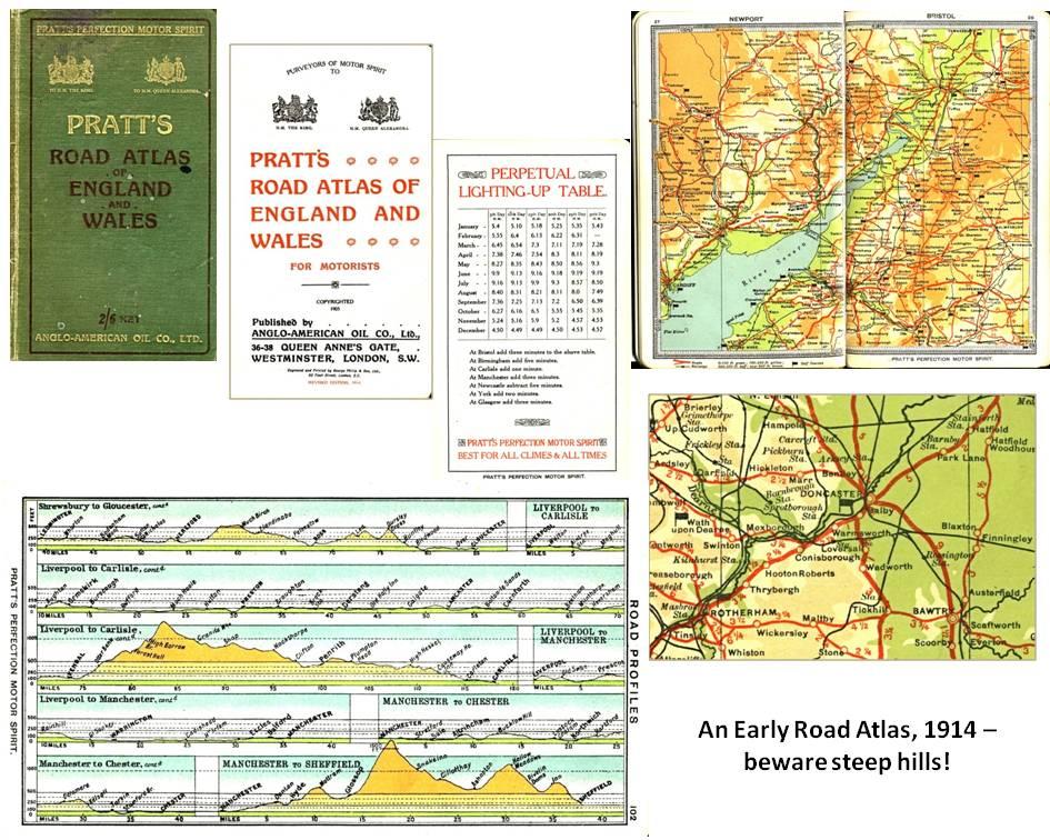 Pratt's Road Atlas - 1914