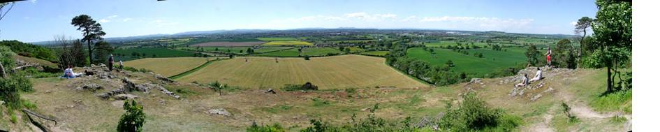 Haughmond Hill panorama