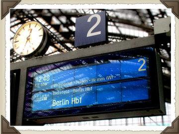 Destination board on Cologne Station