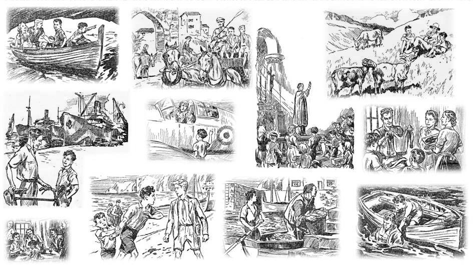 Island on the Beam - illustrations - R Mills