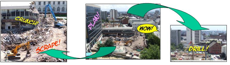 Leeds Met building work